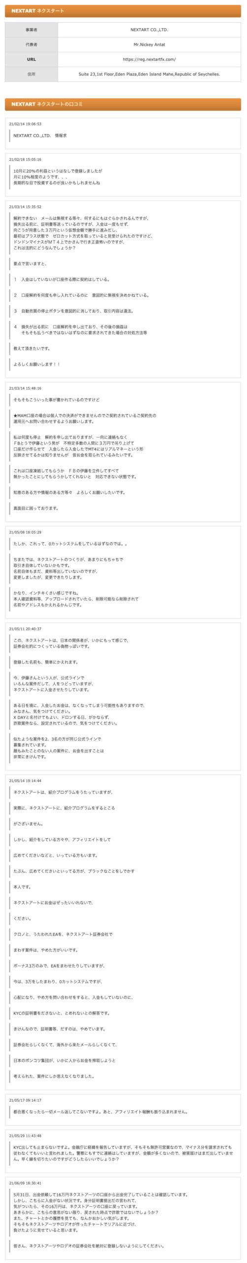 NEXTART(ネクストアート)評判