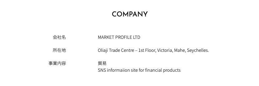 MARKET PROFILE LTD 貿易会社 会社情報