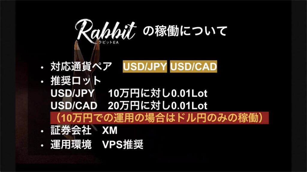 ラビット(Rabbit)EA FX自動売買ツール 特徴