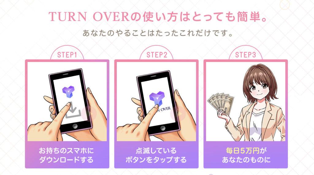 TURN OVER(ターンオーバー)吉田優 手順