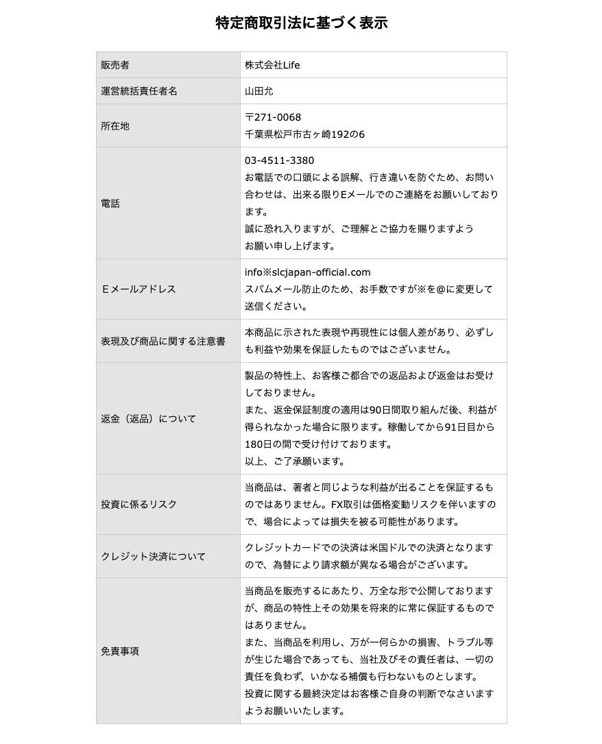 スローライフシステム(SLOW LIFE SYSTEM)北村新(きたむらあらた)特定商取引に基づく表記