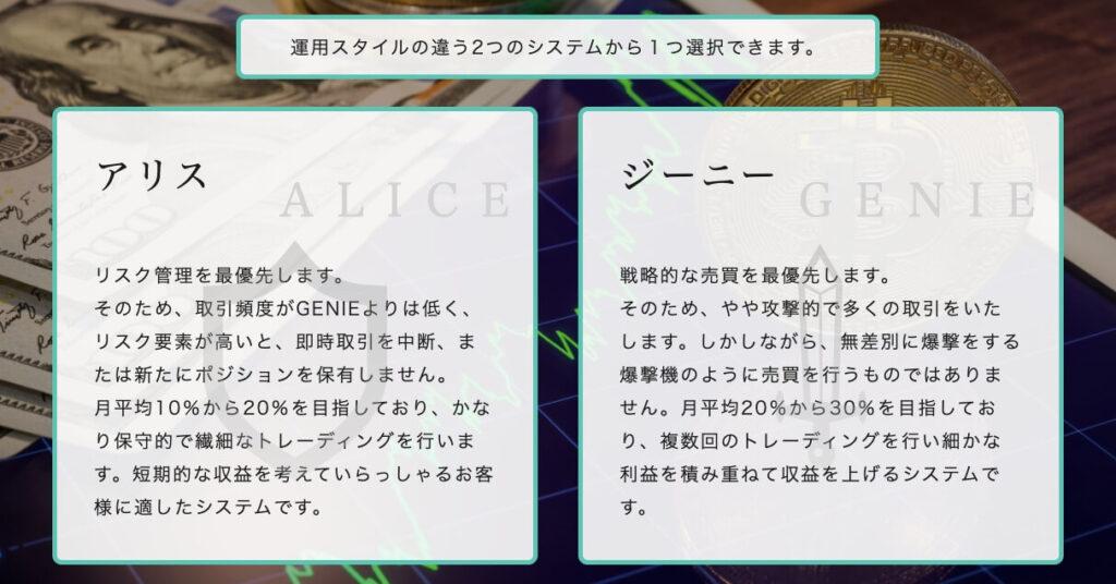 仮想通貨|アリス&ジニー(ALICE & GINIE)とは?